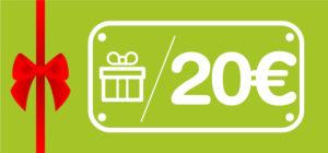 carte cadeau activités 20 euros