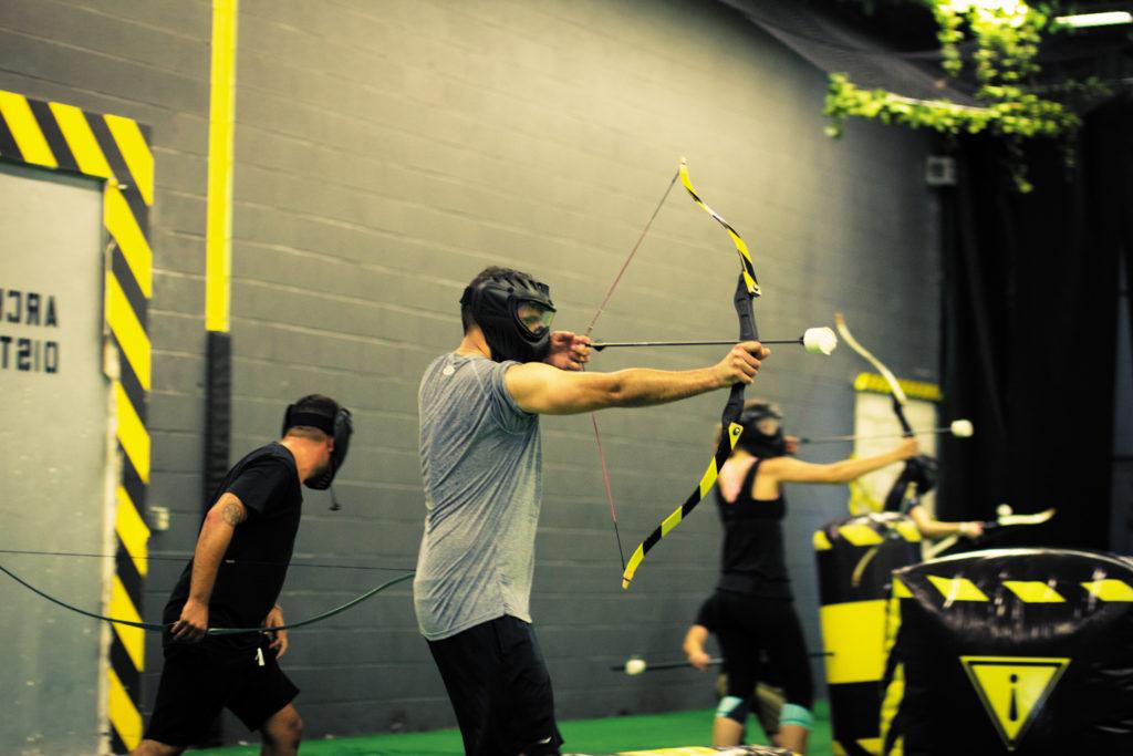 tir à l'arc en équipes archery tag