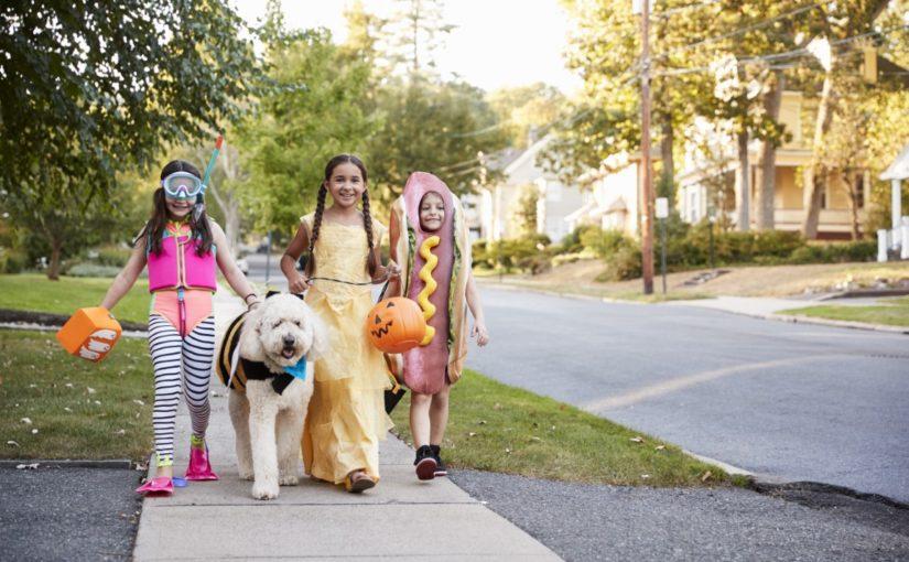 Enfants à Halloween