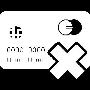 Pas de paiement par carte bleue