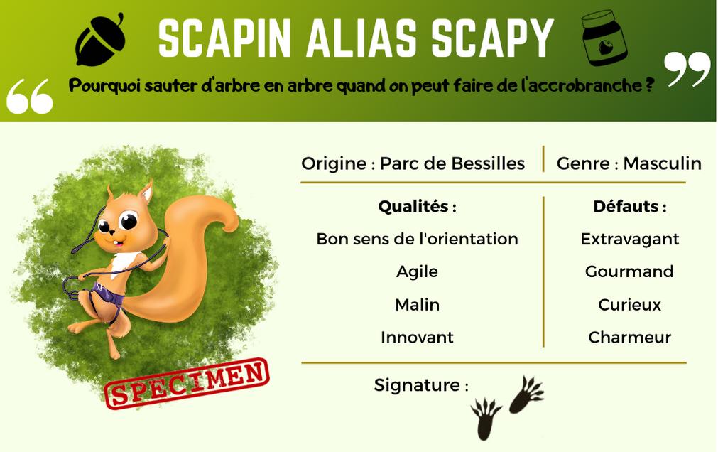 Carte d'identité de Scapin